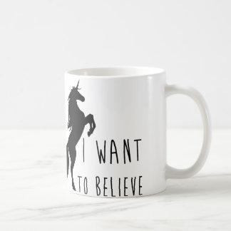 Quiero creer la taza del unicornio
