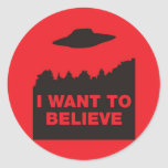 Quiero creer pegatina redonda