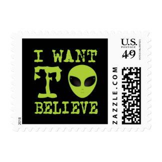 Quiero creer sello postal