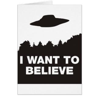 Quiero creer tarjeta de felicitación