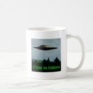 Quiero creer taza de café