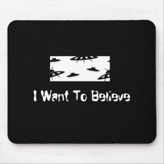 Quiero creer X-Ficheros Tapete De Ratones
