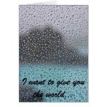 Quiero darle el mundo… tarjeton