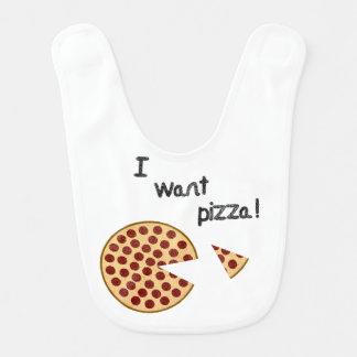 Quiero el babero de la pizza