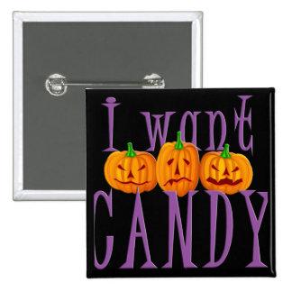 Quiero el caramelo Jack O Lantern Halloween Pins