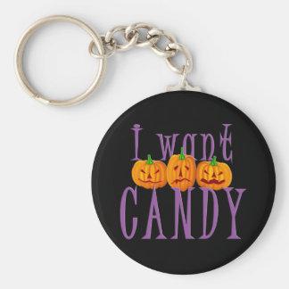 Quiero el caramelo Jack O'Lantern Halloween Llaveros Personalizados