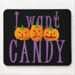 Quiero el caramelo Jack O'Lantern Halloween Tapetes De Ratón