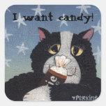 ¡Quiero el caramelo! pegatina