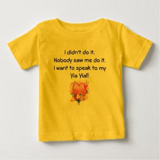 Quiero hablar a Yia Yia - corazón retro Playera De Bebé