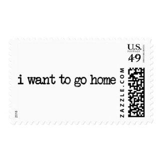 quiero ir a casa sello