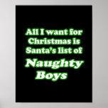 Quiero la lista de Santa de muchachos traviesos Impresiones