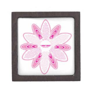 Quiero la margarita loca, rosada cajas de regalo de calidad