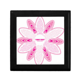 Quiero la margarita loca, rosada cajas de recuerdo