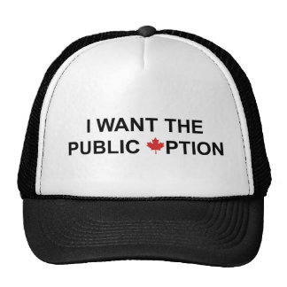 Quiero la opción pública gorros bordados