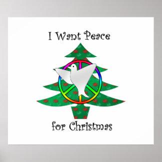 Quiero la paz para el navidad posters
