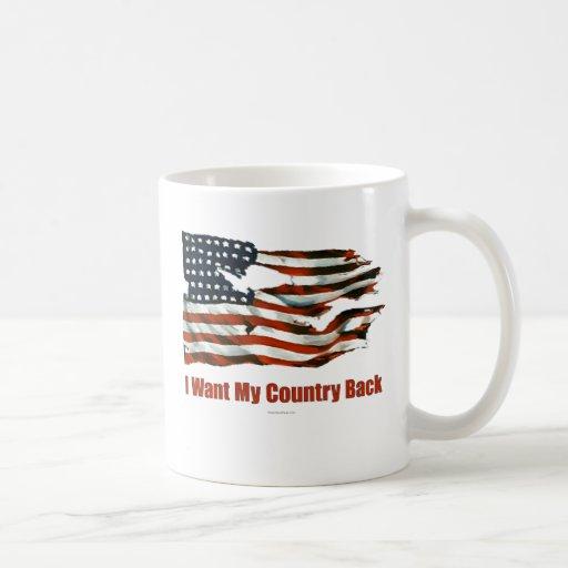 Quiero mi drinkware de la parte posterior del país tazas