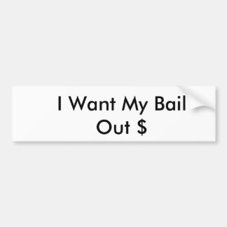Quiero mi ofrezco de garantía $ pegatina para auto