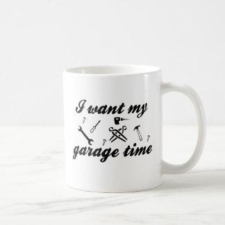Quiero mi tiempo del garaje taza