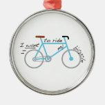 Quiero montar mi bicicleta adorno