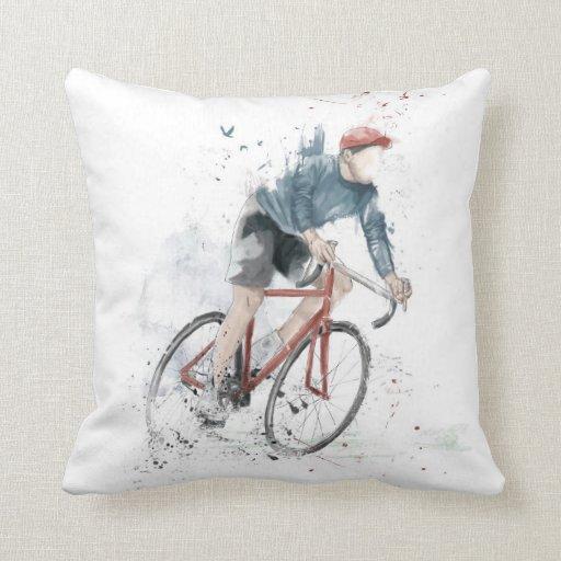 Quiero montar mi bicicleta cojin