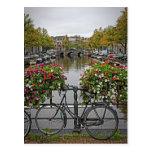 Quiero montar mi bicicleta en Amsterdam - postal