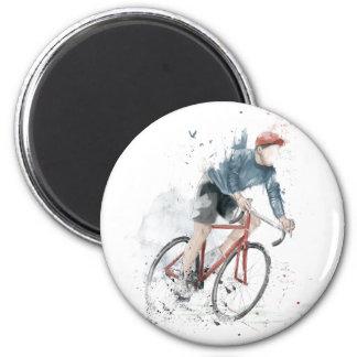 Quiero montar mi bicicleta imán redondo 5 cm