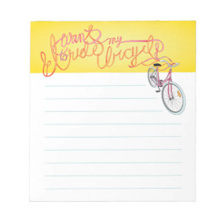 Quiero montar mi bicicleta - libreta alineada bloc