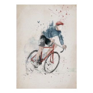 Quiero montar mi bicicleta poster