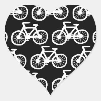 Quiero montar mi bicicleta pegatina en forma de corazón