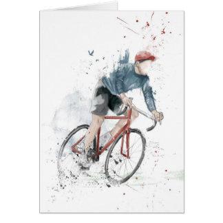 Quiero montar mi bicicleta tarjeta pequeña