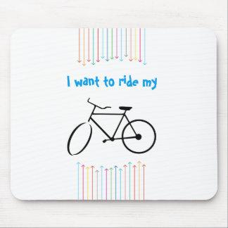 Quiero montar mi cojín de ratón de la bicicleta tapetes de raton