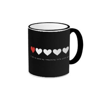 Quiero pasar mi vida restante con usted tazas de café