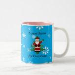 Quiero santa para el navidad taza de café