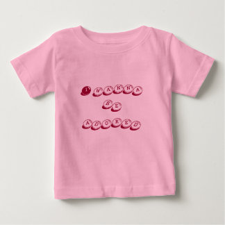 Quiero ser adorado playera para bebé