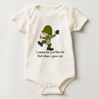 Quiero ser apenas como mi papá cuando i g… body para bebé