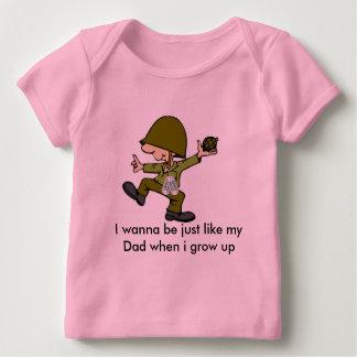 Quiero ser apenas como mi papá cuando i g… playera de bebé