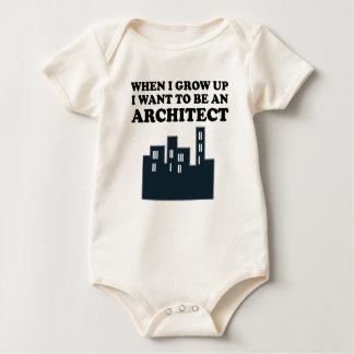 Quiero ser arquitecto body de bebé