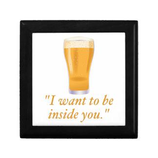 Quiero ser dentro de usted - cerveza caja de regalo