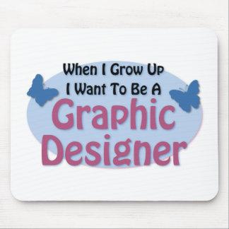 Quiero ser diseñador gráfico tapete de raton
