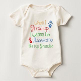 Quiero ser impresionante como mi Grandad Traje De Bebé