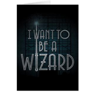 Quiero ser mago tarjeta de felicitación