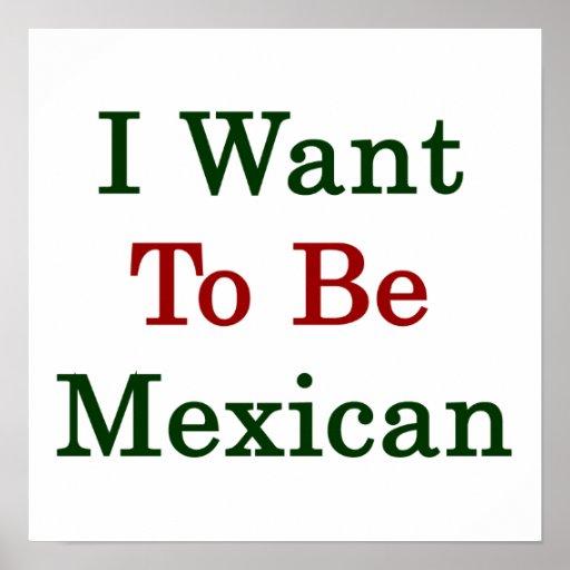 Quiero ser mexicano póster