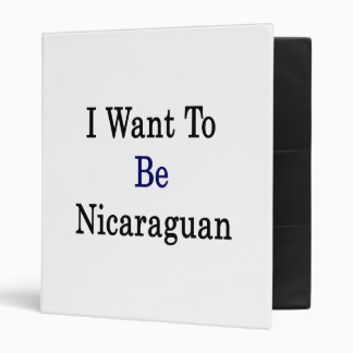 Quiero ser nicaragüense