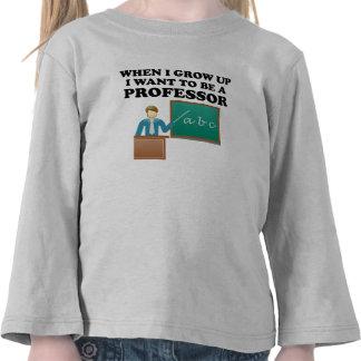 Quiero ser profesor camiseta