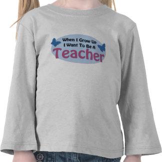 Quiero ser profesor camisetas