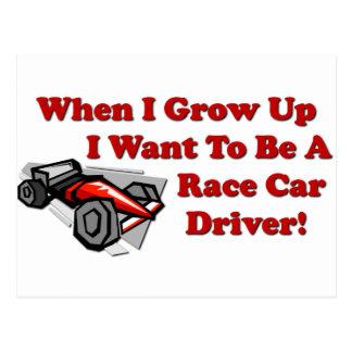 Quiero ser un conductor de coche de carreras postal