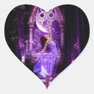 Quiero ser una hada pegatina en forma de corazón