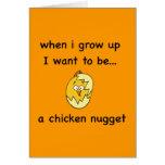 ¡Quiero ser… una pepita de pollo! Tarjeta
