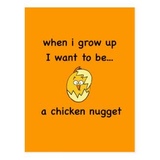 ¡Quiero ser… una pepita de pollo! Postales