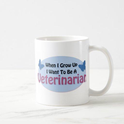 Quiero ser veterinario taza de café